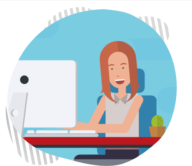 animated-female-typing-on-laptop-working