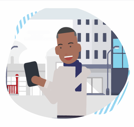 animated-male-typing-on-phone-best-freelancers